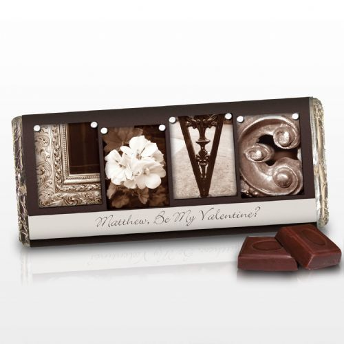 Personalised Affection Art Love Chocolate Bar